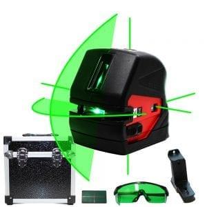 FK106G 1V1H5D Green Beam Cross Line Laser Level Kit