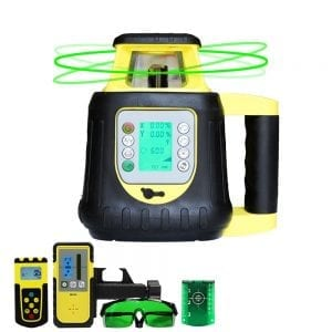 FRE208G Dual Grade Digital Self Leveling Green Beam Rotary Laser Level