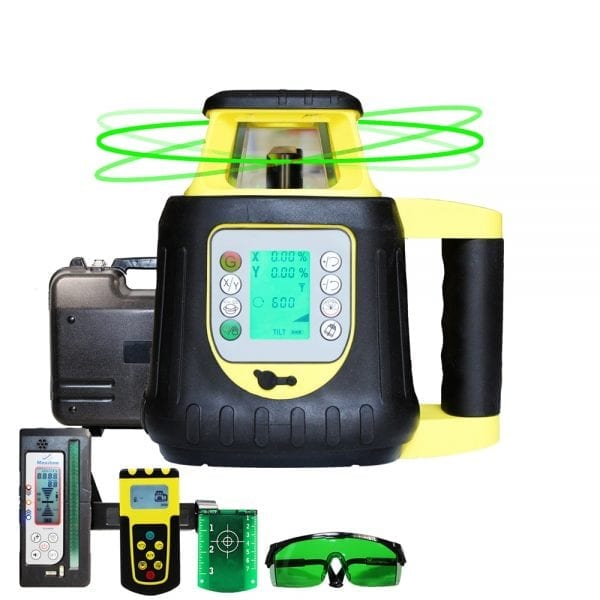 FRE208G Digital Self Leveling Green Beam Rotary Laser Level with Digital Receiver