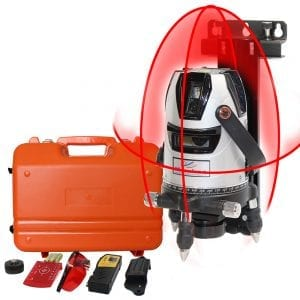 HY4V1H Multi-line Self Leveling Laser Level with Receiver Wall Bracket