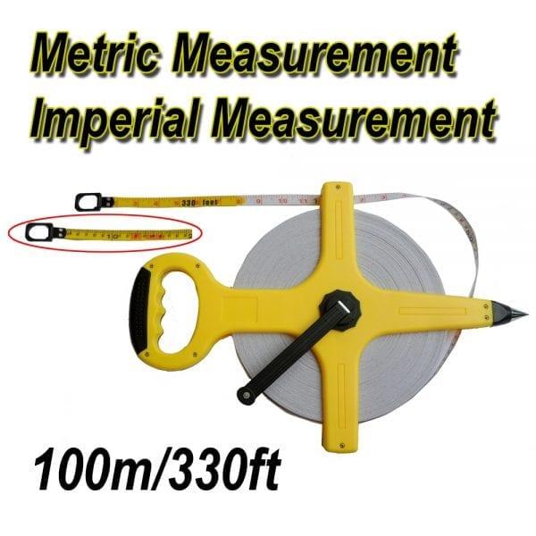 100M/330FT Open Reel Measuring Tape