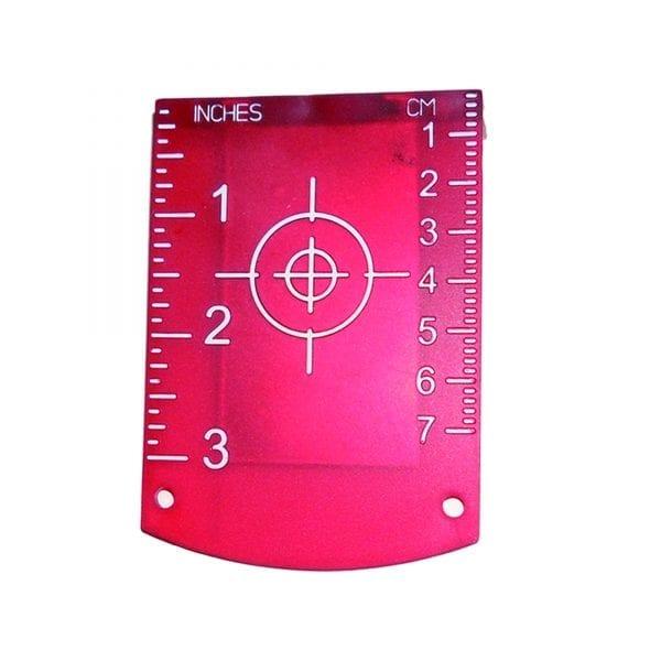 05LKTAGR Magnetic Red Target for Rotary Laser Levels Cross Line Laser Distance Measurer