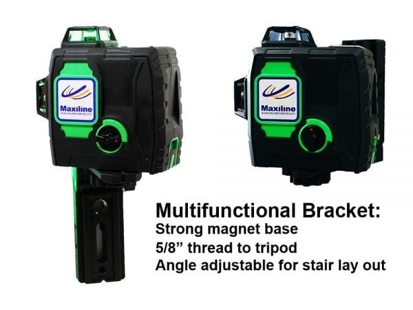 HY3DG2 3×360° Green Beam Self Leveling Cross Line Laser Level with Wall Mount Kit