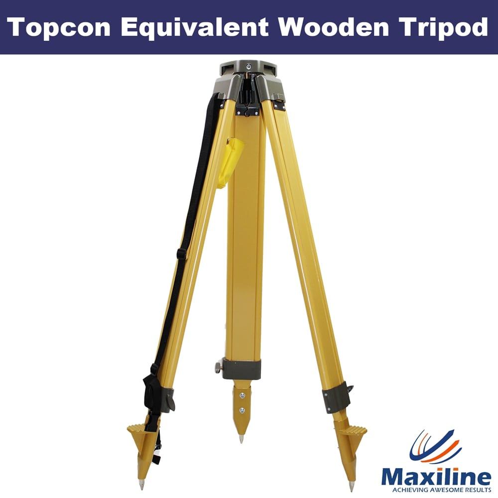 S680 Theodolite Total Station Laser Level Wooden Tripod For Topcon Leica Trimble