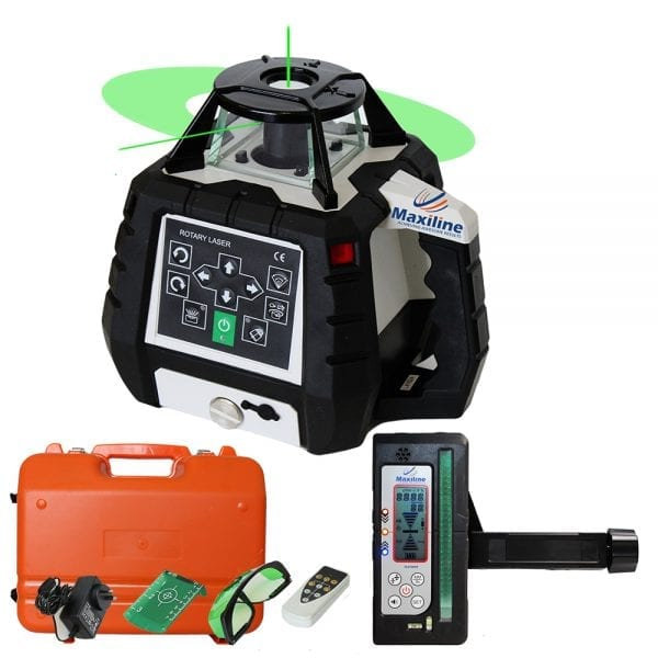 Green Beam Rotary Laser Level with Digital Receiver