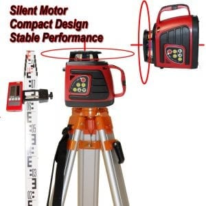 SP100 Dual Grade Rotary Laser Level with Tripod and Staff